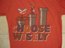 "Super Mario Bros ""Choose Wisely"" Pipe Piranha Plant nintendo T Shirt M"