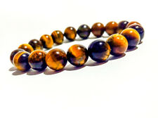 Fashion Tiger Eye Natural Stone 8mm African Roar Turquoise Round Beads Bracelet_
