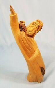 Vintage Leonardo Salazar Hand Carved Red Cedar Wood Sculpture