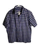 Patagonia Common Threads Short Sleeve Button Front Shirt Plaid Mens Medium XL