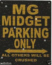 MG MIDGET PARKING METAL SIGN RUSTIC VINTAGE STYLE6x8in 20x15cm garage