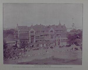 1895 INDIA PRINT - SIRDAR'S MANSIONS BOMBAY