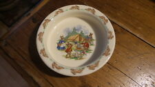 Royal Douton BUNNYKINS BABY DISH, Camping, Camp Site, Tent, Made in England