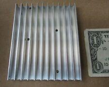 """Large Aavid Thermalloy Aluminum Heatsinks 4.303"""" x 3.534"""" x .402 Power Amplifier"""