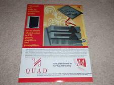 QUAD Esl-63 Speaker,67 CD,306,606 Amp Ad,1995,Article