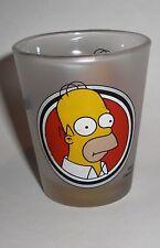 2002 Set of 2 Simpsons Shot Glasses, Homer, Edition 1 Glass
