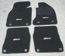 Black SUPER VELOUR Car Mats to fit Audi RS6 C5 (2002-2004) + RS6 Logos (x4)