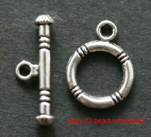 Free 15sets tibetan silver toggle clasps 20mm
