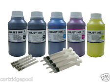 Refill Pigment ink kit for Epson 126 T126 WorkForce WF-7510 7520 7010 5x250ML/S
