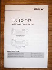 Instruction Manual for Onkyo TX-DS747 in Ital,Fran,Esp ,ORIGINAL