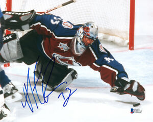 PATRICK ROY SIGNED AUTOGRAPHED 8x10 PHOTO COLORADO AVALANCHE LEGEND BECKETT BAS