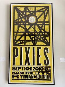 PIXIES DOOLITTLE TOUR FRAMED HATCH PRINT RYMAN AUDITORIUM NASHVILLE 9-11-2010