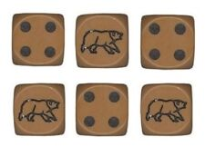 """New Set of 6 Brown Bear Dice with Rounded Edges – 5/8"""" or 16mm D6 Dice"""