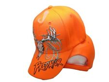 Deer Skull Hunter Predator Neon Bright Orange Embroidered Cap Hat 909A