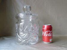 """BOHEMIA CRYSTAL BISCUIT JAR, VERY BIG, h25,5cm (10"""")"""