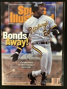 Barry Bonds Signed Sports Illustrated 5/4/92 No Label Baseball Pirates Auto JSA