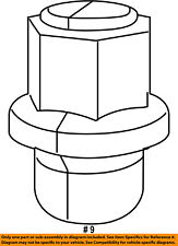 6509873AA, CHRYSLER OEM Wheel-Lug Nut