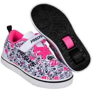 Heelys X2 GR8 Pro - White/Black/Hot Pink/Skulls