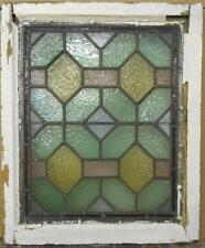 """VICTORIAN ENGLISH LEADED STAINED GLASS WINDOW Stunning Geometric 20.5"""" x 24.5"""""""