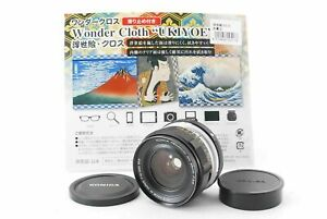 [N.Mint] Konica Hexanon AR 28mm F/3.5 Lens w/ Case Front cap From Japan #16