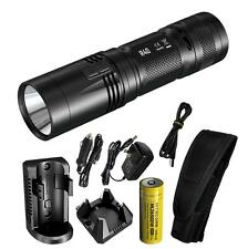 Nitecore R40 1000 Lumens Inductive Charging Flashlight w/ Desktop & Wall Cradles