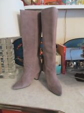Jeffrey Campbell Senita  modern taupe Suede slouch boots NWOB size 8