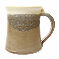 Clay In Motion Handmade Ceramic Medium Mug Coffee Cup 16 oz - Desert Sand