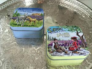 französische Seife mit Olivenöl Schmuckdose Lavendel Edelweiss Provence