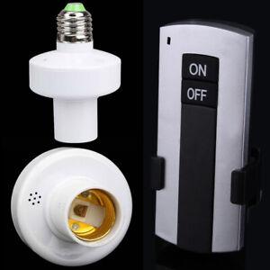 Sans fil Télécommande E27 Visse Lampe Douille Capuchon Douille Interrupteur