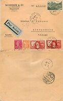 1702 - Francia - Busta via aerea da Mulhouse ad Alessandria d'Egitto, 28/10/1937