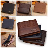 Men Vintage Leather Bifold Purse ID Credit Card Holder Clutch Short Wallet