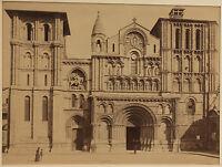 L Bordeaux Chiesa Sainte-Croix Vintage Albumina Ca 1880