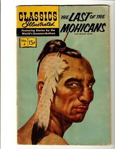 Classics Illustrated #4 The Last Of The Mohicans (Gilberton, 1966) HRN #167