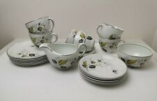 Alfred Meakin Tea Set Glo-White Leaf Harmony By Homemaker Service For 6 People