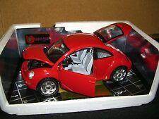 1/18 Bburago 1998 Volkswagen Bug in red, New Beetle.