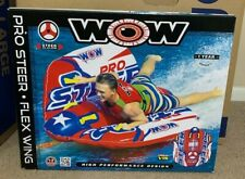 Wow Pro Steer Flex Wing Inflatable Towable Tube 1-2 Riders Free Shipping 💦New!