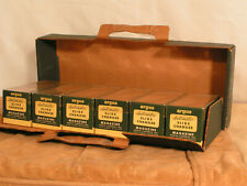 Lot of 6 Argus '40s-'50s Slide Changer Magazines w/boxes & rare oem carrying box