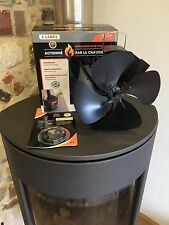 heat powered stove top fan eco friendly 4 blade plus thermometer for log burner