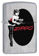 Zippo Lighter: Pin-up Maid - Linen Weave 76593