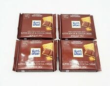 4 Ritter Sport Milk Chocolate w/BUTTER BISCUIT & COCOA CREME 3.5oz  08/ 13/2020
