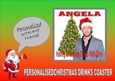 Chris Hemsworth Personalised Drinks Coaster Perfect Secret Santa Gift Xmas Gift