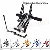 Billet R6 Rearsets Foot pegs Rest Pedal Rear sets for Yamaha YZF R6 2006-2016