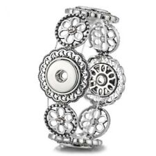 Fits Ginger Snaps SNAP STRETCH BRACELET Interchangeable JEWELRY Button 18mm