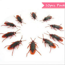 10x Cockroach Fake Realistic Plastic Joke Toy Roach Pretend Insect GROAC0101x10