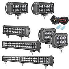 "LED Light Bar Pods 4"" 7"" 12"" 20"" 28"" INCH Offroad Driving Lamp Spot Flood Trucks"