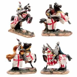 Battle Ready Knight On Horseback Figurine Decorative Collectable Ornament Gift