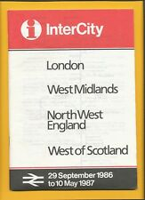 1986 INTERCITY WEST MIDLANDS NORTH WEST ENGLAND WEST OF SCOTLAND - A5 TIMETABLE