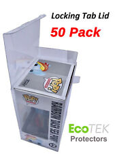"50 Funko POP Acid-Free Crystal Clear Strong Protector case For 4"" Vinyls Figures"