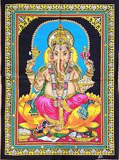 Ganesha Batik Folk Art Handmade Indian Tribal Cotton Ethnic Religion Painting