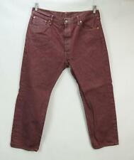 Levi's 501 Homme Coupe Décontracté Jean Pantalon Rouge 38 x 30